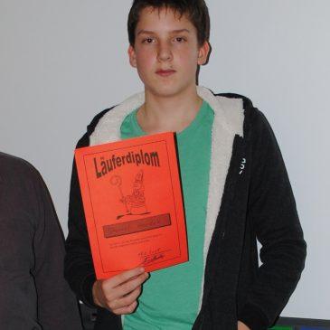 Daniel Houdek meistert das Läuferdiplom!